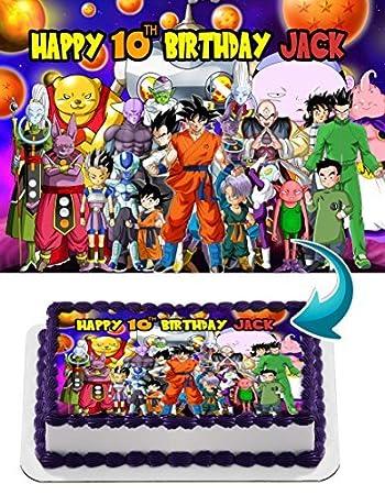 Dragon Ball Super Goku Vegeta Gohan Anime Z Edible