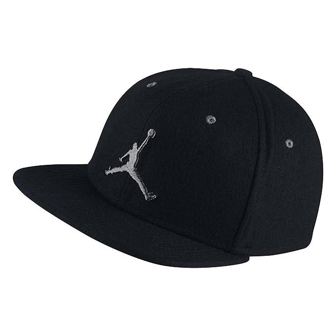 Nike Gorra Jordan – Jordan 12 Negro/Gris Talla: OSFA (Talla única para