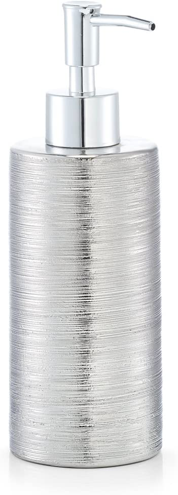 Durchmesser 6,7 x 19,5 cm Zeller Seifenspender Silber