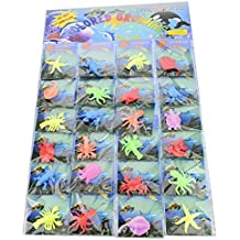 Funlop Sensory Jelly Water Growing Sea Life Creatures Animals, Amazing, fun, educational, learning toy for children boys and girls (24 Assorted Sea creatures and Colors) by Funlop