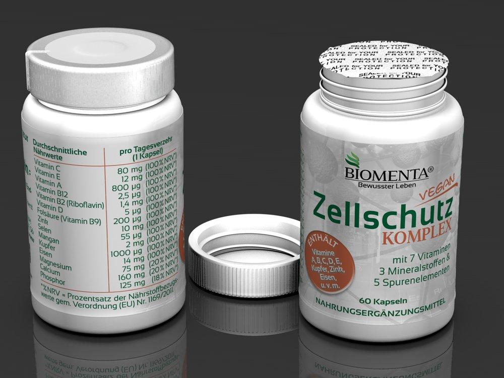 ... D, E + Manganeso, cobre, Eisen, CALCIO, magnesio, Cinc ,selenio, Fósforo 60 zellschutz-kapseln 2 meses de curación: Amazon.es: Salud y cuidado personal