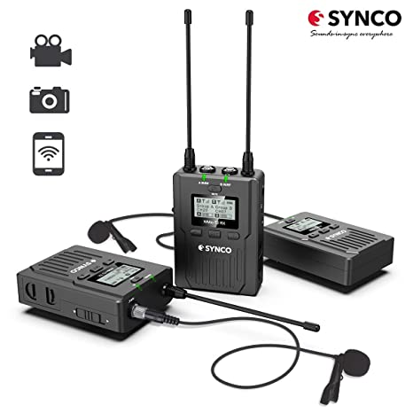 SYNCO WMic T2 Microfono-Solapa-Inalambrico-UHF-Sistema 96 Canales ...