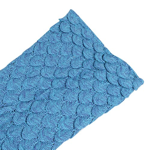 Mermaid Tail Blanket, Crochet Knitted Sleeping Bag Sofa Bedding Cozy Blankets for Girls Adults Kids All Season