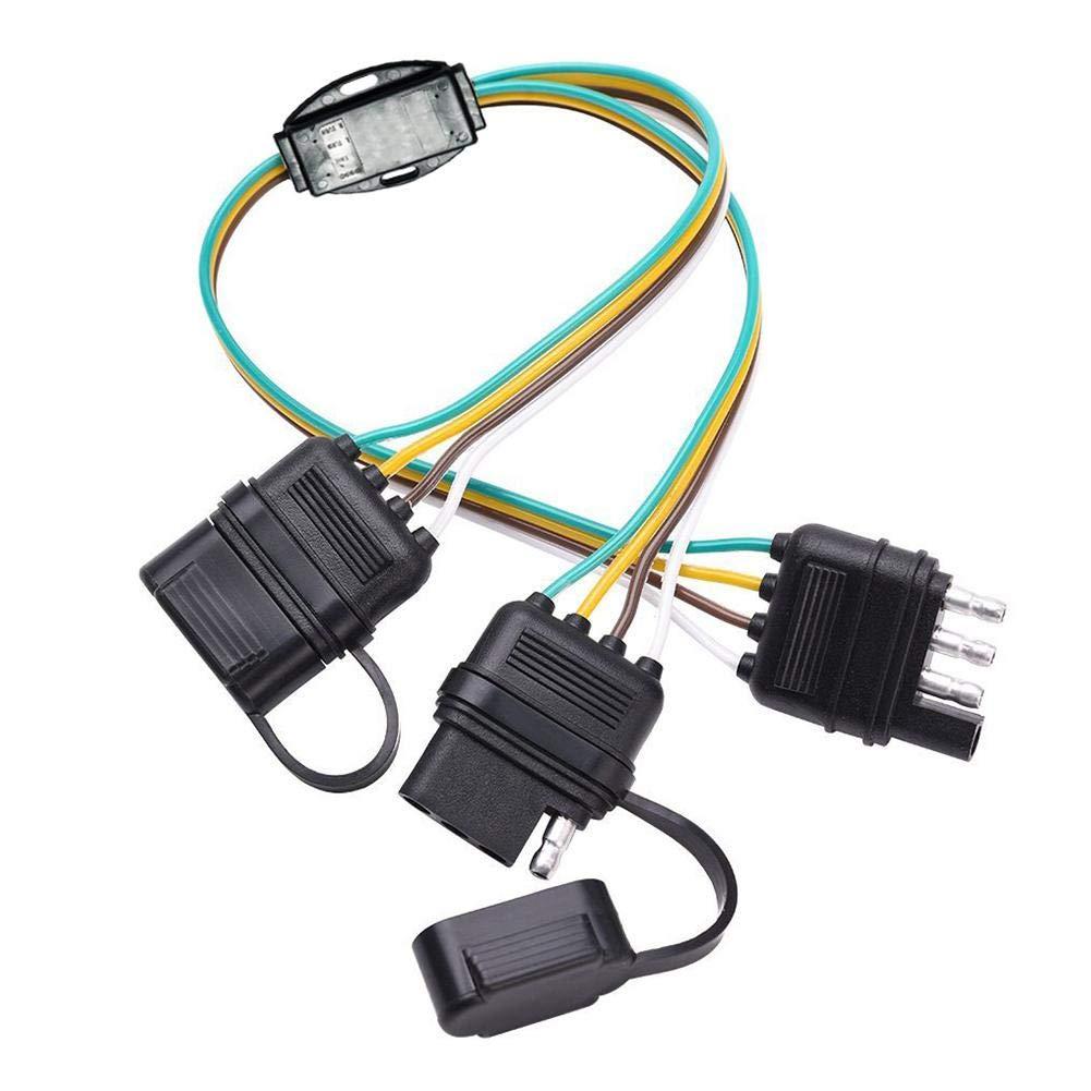 Cosy-TT Universal American 4-Pin Socket Car RV Truck Trailer Wiring Adapter Plug Converter