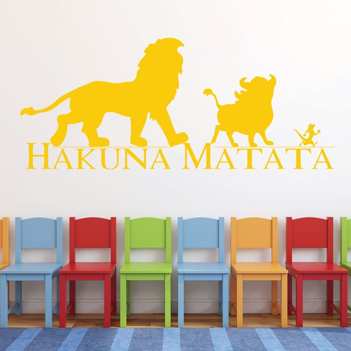 Amazon.com: Hakuna Matata Wall Decal - Vinyl, Lion King Decor, Simba ...