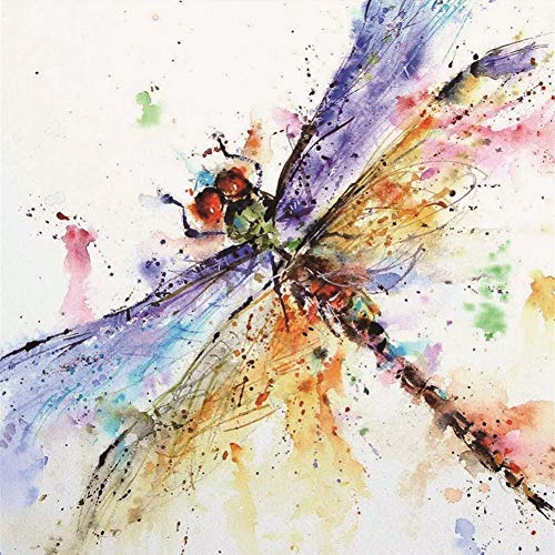 - Wowdecor 5D Crystal Diamond Painting with Diamonds Kits, Dragonfly Colorful Insect, Full Drill DIY Diamond Dotz Embroidery Crafts Graphy Art (Dragonfly)