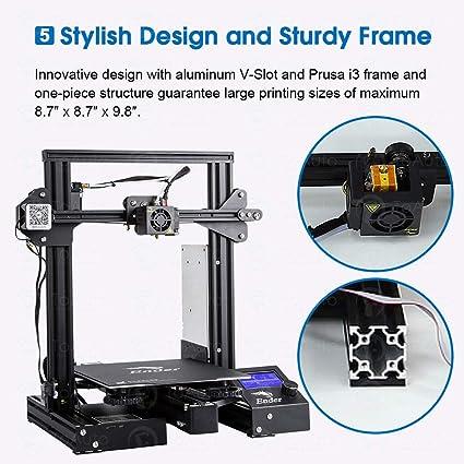 Creality Ender 3 Pro Impresora 3D DIY Prusa I3 Creative Upgraded ...