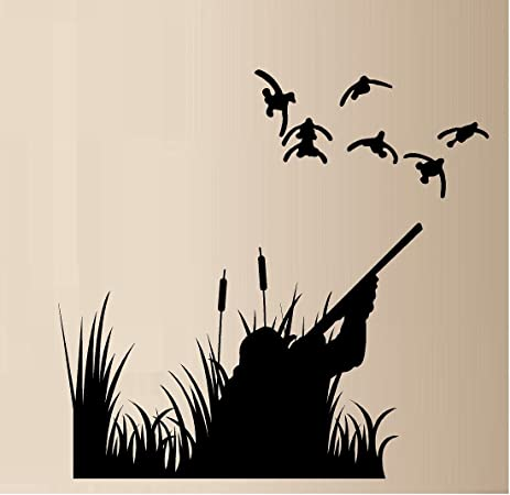 DUCK HUNTING DUCKS OUTDOOR VINYL WALL DECAL STICKER HOME DECOR