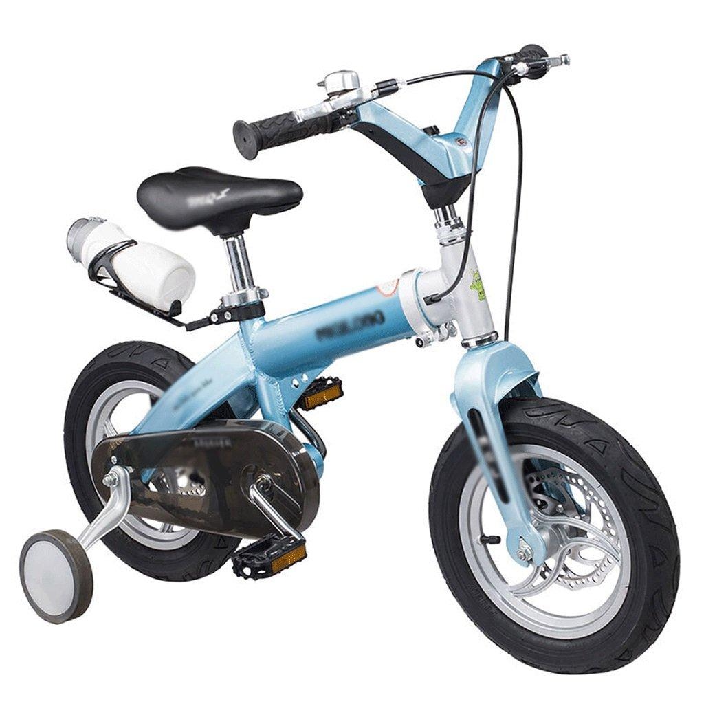 子供用 自転車 子供用 格納式 自転車 男性 女性 12/14/16インチ 子供用 自転車 パウダー 格納式 ダブルディスク ブレーキ B07F6K5T7Z   16 inch