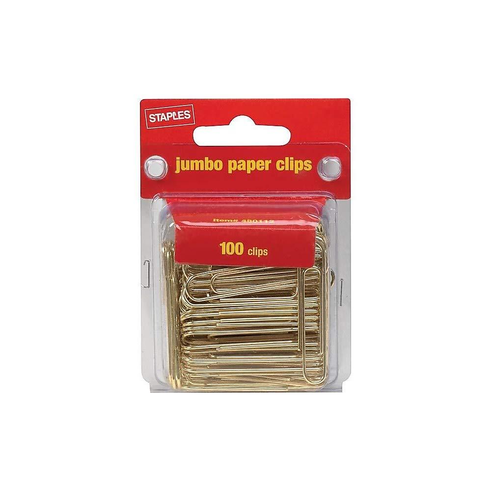 Amazon.com: Grapas Jumbo Oro Clips, suave, 100/Pack: Office ...