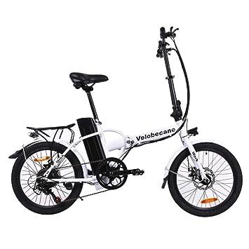 Velobecane Bicicleta eléctrica Work Blanco: Amazon.es: Deportes y aire libre