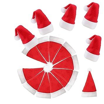 ea8a08ba8 Mini Christmas Santa Hat Personalized Wine Bottle Naughty Cool Santa Hat  Christmas Tree Topper...