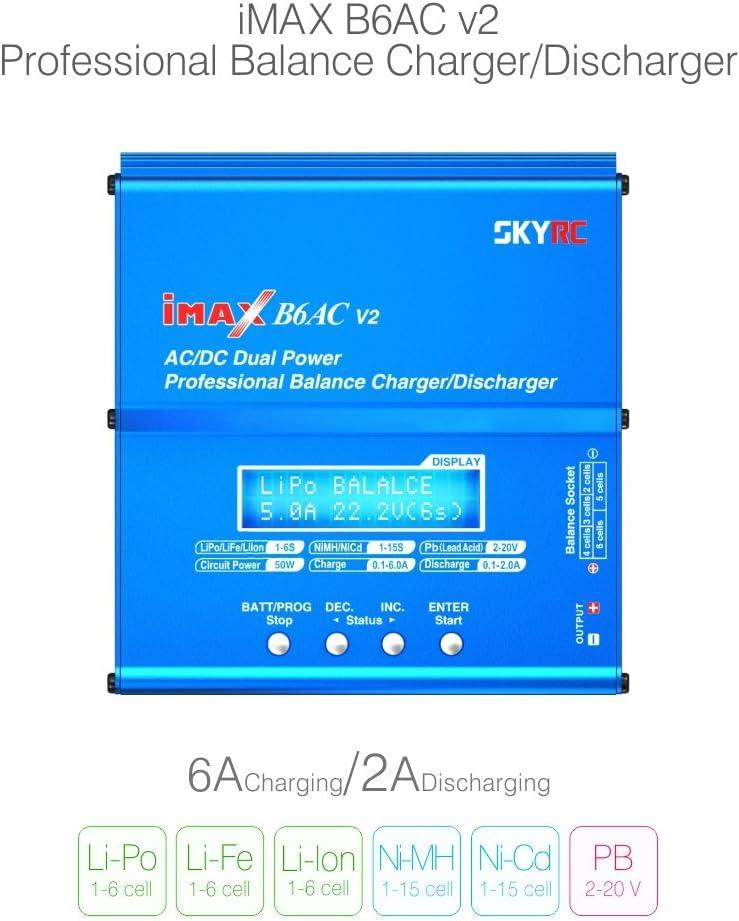 Genuine SKYRC iMAX B6AC V2 AC/DC Dual Power Professional LiPo Battery Balance Charger/Discharger