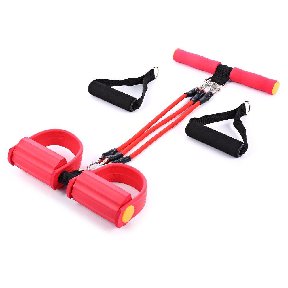 zhang-hongjun,Banda de Entrenamiento Resistencia Corporal Trimmer Fitness Pedal Exerciser(Color:Rojo)