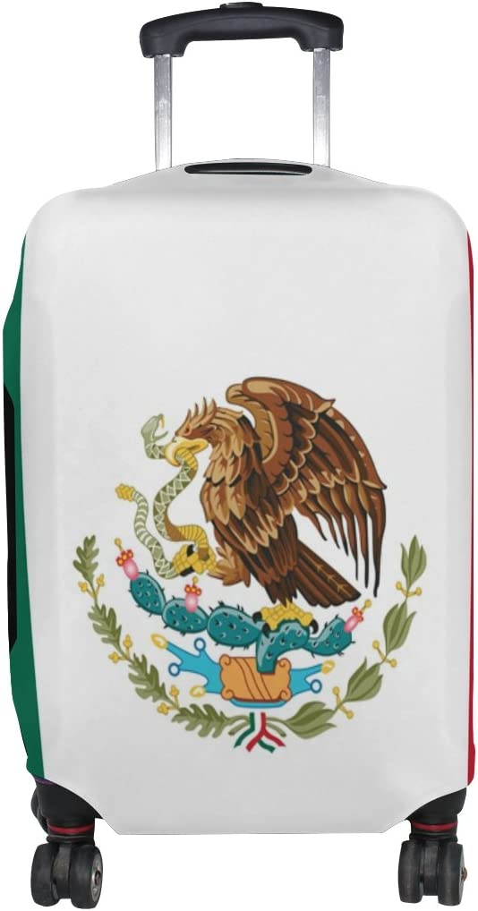 LEISISI Mexican Flag Luggage Cover Elastic Protector Fits XL 29-32 in Suitcase