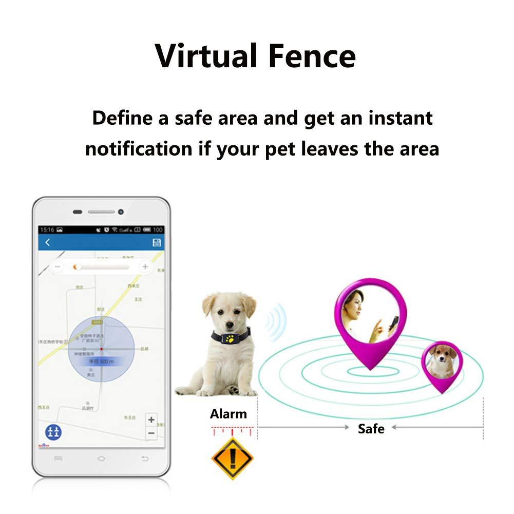 HSHXY Rastreador GPS para Mascotas, Pet Finder GPS Tracker Mini ...