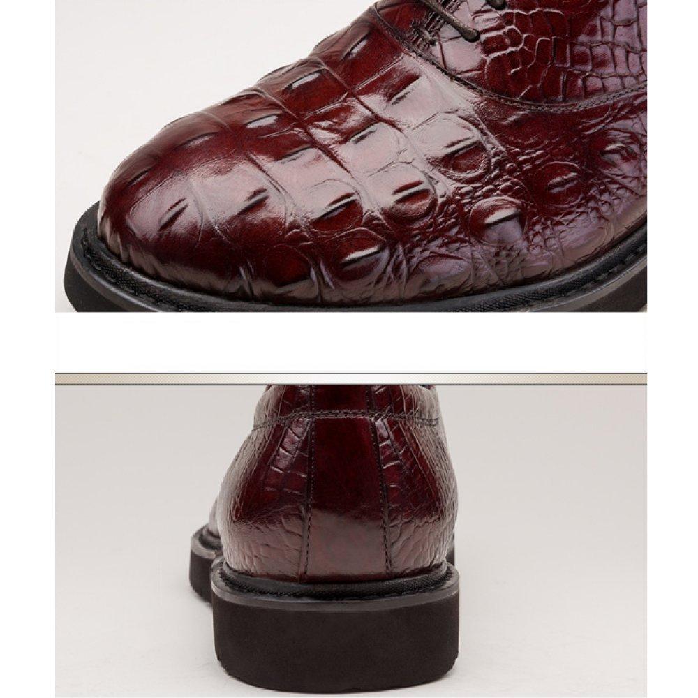 NIUMJ Geschäft Schuhe mit mit Schuhe Niedrigem Absatz Frühling und Sommer Atmungsaktiv Tragbar Einzelne Schuhe Leder Mode Niedrige Schuhe Herrenschuhe 04814a