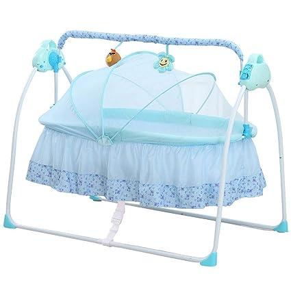 Beige Naturger/äusche inkl Timer Baninni Gondola elektrische Babywiege Babyschaukel Babybett mit Schaukelfunktion Musik Matratze