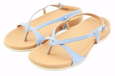 Hogan by Tod's Women's FUSSBETT Thong Light Blue Sandals Shoes US ...