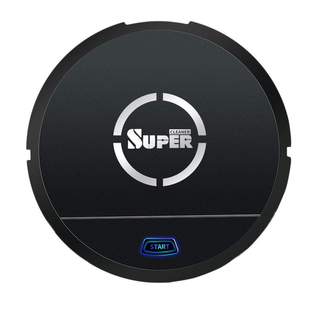 Robot Vacuum Cleaner [Mopping, Sweeping & Vacuuming], Smart Robotic Vacuum Automatic Sweeper with Remote for Pet Hair, Carpet, Hardwood Floors, Tile (Black)