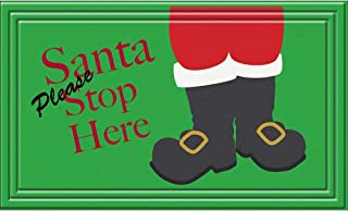 product image for Apache Mills Indoor/Outdoor Santa Stops Here Doormat (18 x 30)