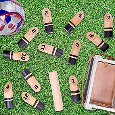 Molkky | Portable Outdoor Lawn Game | Unique, Traditional Family Game | Premium Wooden Tossing Game Set Perfect for Parties, BBQs, Cookouts, Yard Activities | Comes with Carrying Crate: Toys & Games