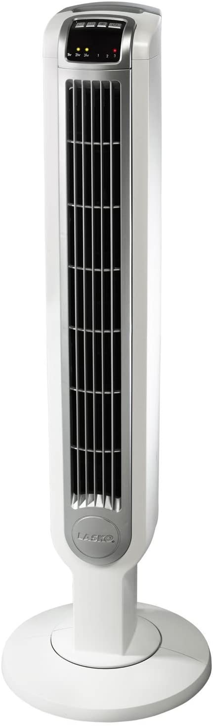 Lasko 36 TOWER FAN with Touch-Control Operation & Smooth Oscillating Option, Programmable Timer and 3 Speeds, BONUS FREE Remote Control Included by Lasko