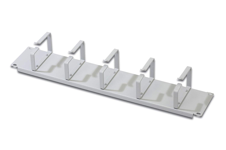 DIGITUS Kabelmanagement-K/äfig Schwarz Abnehmbare Blende 1HE 19-Zoll Rangier-Panel Kabel-Durchf/ühung