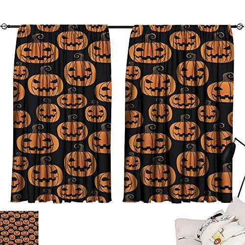 Backdrop Curtain Halloween Pumpkin Seamless pattern6 72