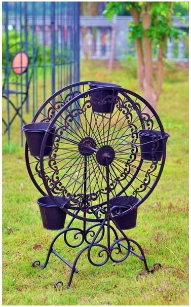 Metal Plant función atril – Noria con 5 Macetas: Amazon.es: Jardín