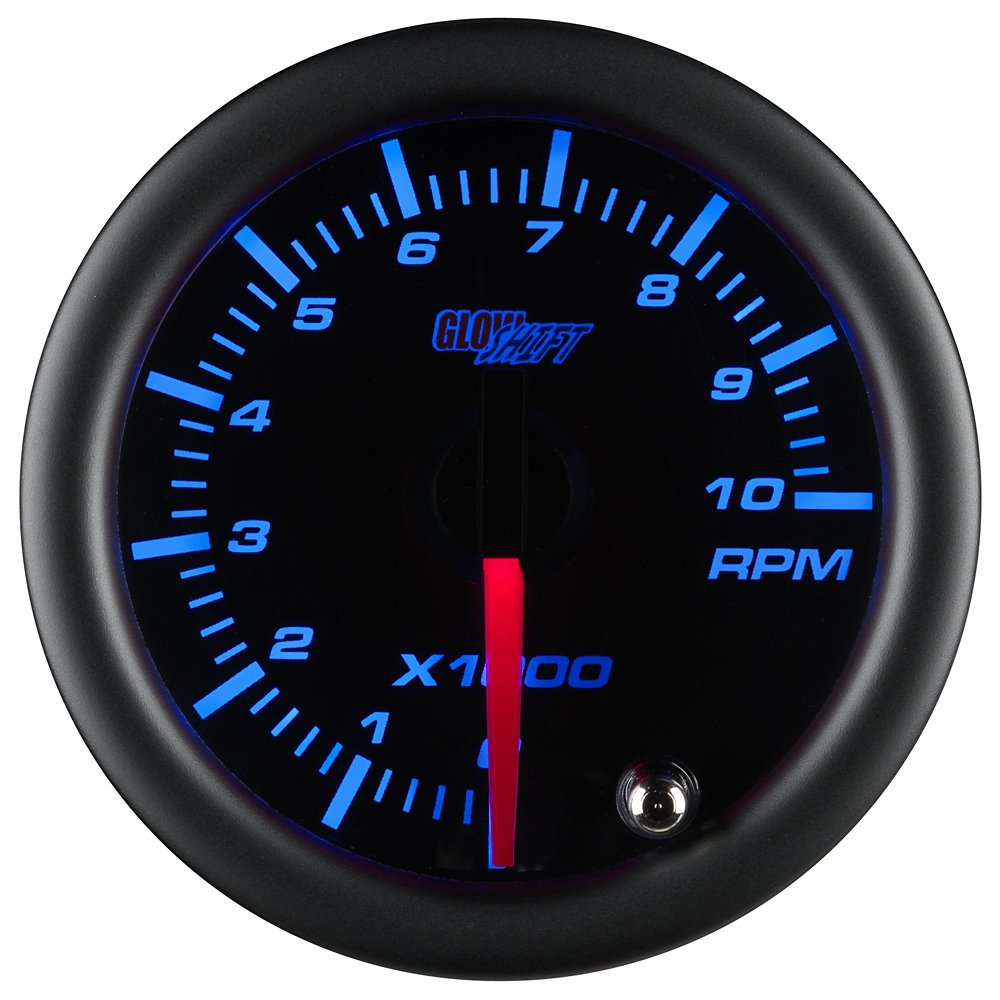 Glowshift Tinted 7 Color 10000 Rpm Tachometer Gauge Vdo 4000 Wiring Further Diesel Engine Kits For 1 10 Cylinder Gas Powered Engines Black Dial Smoked Lens 2 16 52mm