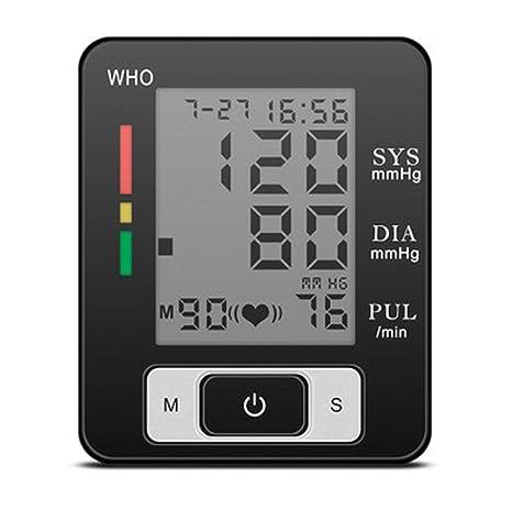 WAOBE Monitor de Presión Arterial de la Muñeca 90 Memoria del Grupo Duo- Presión Arterial-Arritmia ...