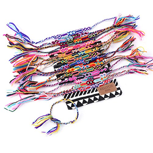 Handmade Macrame Knotted Colour Candy Wide Woven Friendship Bracelet 10 Pcs