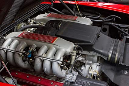 Quality Prints - Laminated 36x24 Vibrant Durable Photo Poster - Motor Head Car Ferrari Redhead Auto