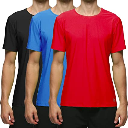 Short Sleeve Dri-fit Black Red Compression Workouts Top Tee Shirt for Gym