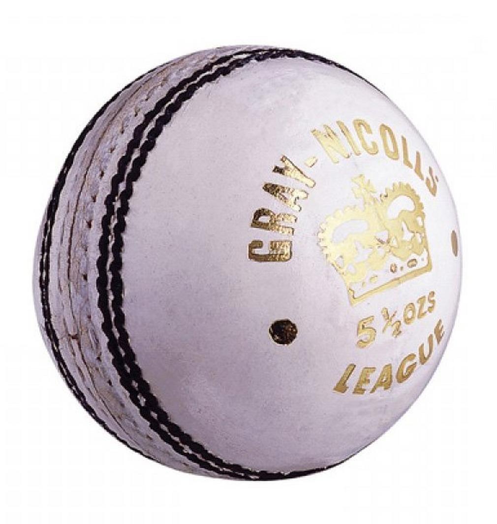 GRAY-NICOLLS League Balle de Cricket, Blanc, Junior