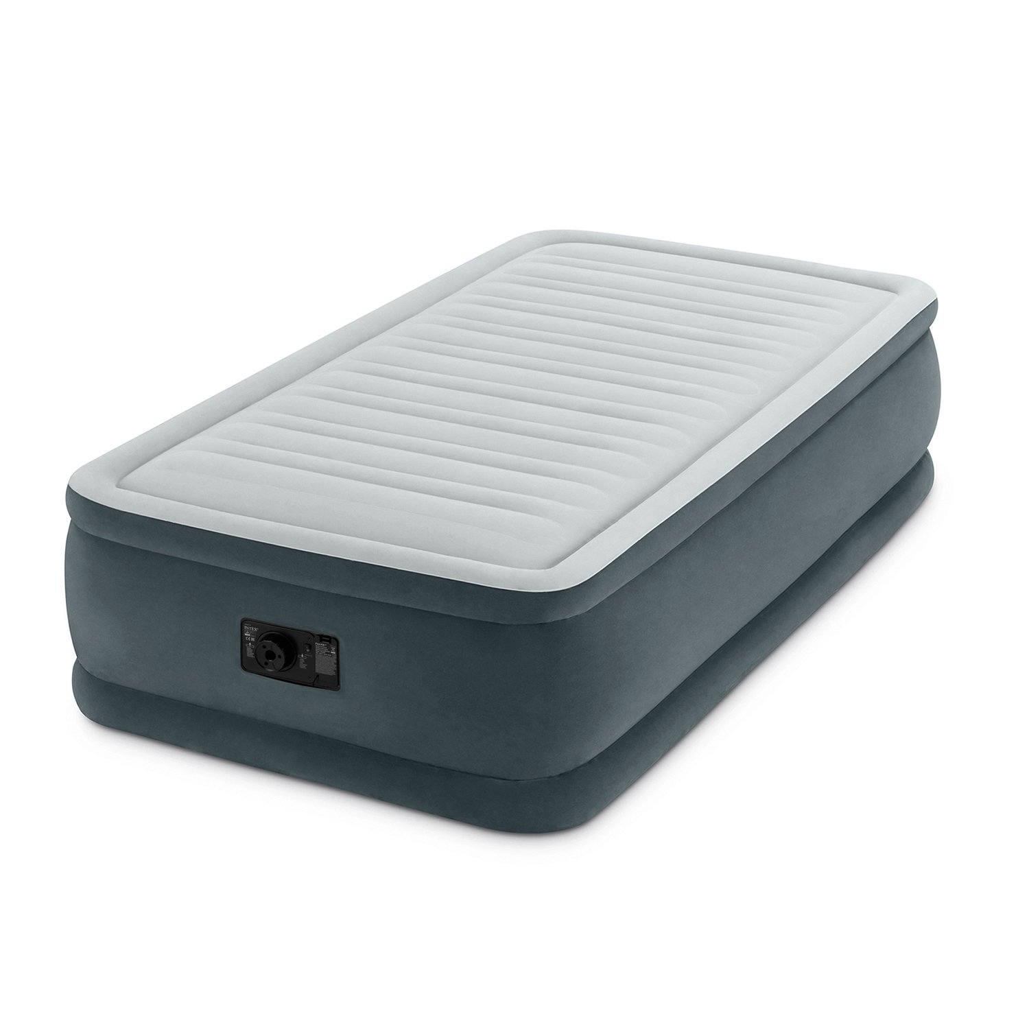 Intex Comfort Plush Elevated Dura-Beam Airbed with Built-in Electric Pump, Bed Height 18'', Twin by Intex (Image #1)