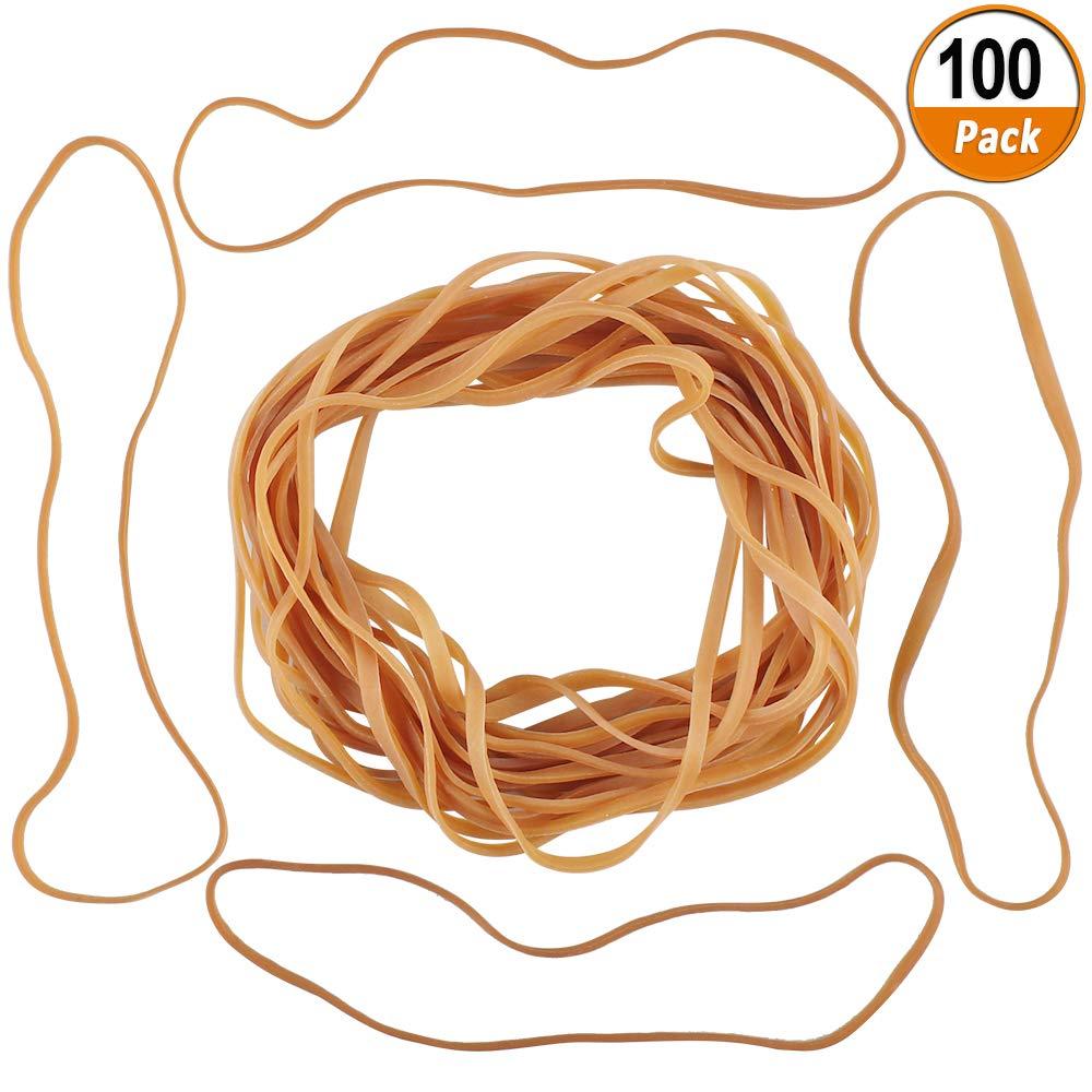 100 Pezzi Elastici di Gomma Grandi Elastici Spessi Elastici di Gomma per Ufficio Casa Scuola lunghezza 20 cm,larghezza 4 mm