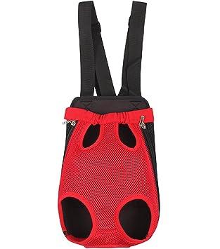 YOUJIA Mochila Bolsa para Perro Gato Mascota, Viaje Bolsa de Transporte - Color sólido (Velcro# Rojo, S): Amazon.es: Hogar
