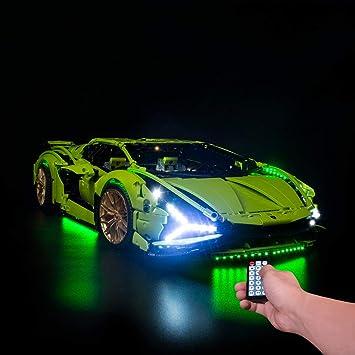 Lesdiy kit di illuminazione a led con telecomando multieffetto per lego lamborghini sián fkp 37 42115 solo led A249141746