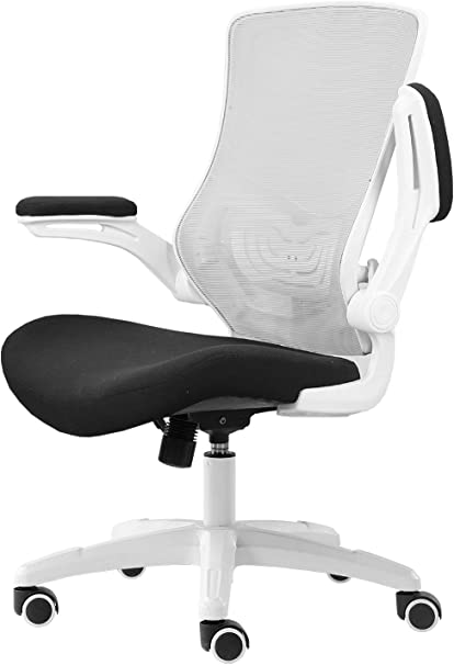 Grigio Sedia di Rete Sedia Ufficio esecutivo,Regolabile,Supporto la Vita Amoiu Sedia da Ufficio Disegno ergonomica