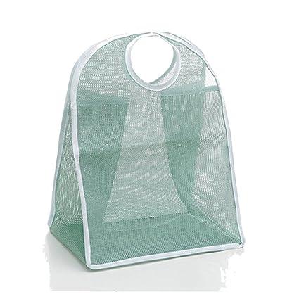 kanzd cuadrícula nailon lavandería Cesto de la ropa cordón sujetador ropa interior bolsas para ropa sucia