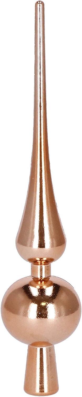 SPRINGOS Juego de 100 bolas de Navidad con encaje de diferentes formas color oro rosa y marr/ón