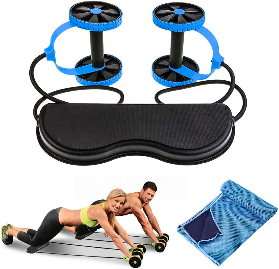 HXpaper Perfect Fitness Ab Carver Wheel Roller for Home Gym Core Workouts