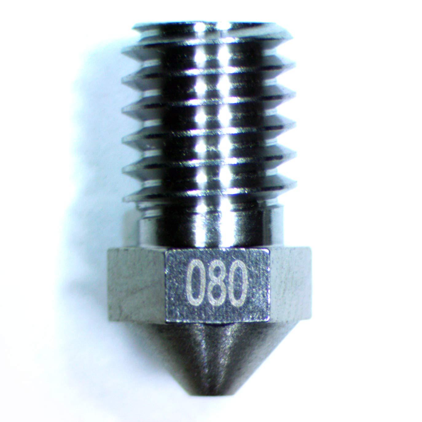 Impresora 3D de tungsteno M6 Boquilla extrusora, 0.8 mm de d