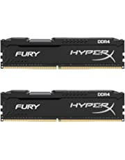 HyperX HX424C15FB2K2/16 FURY DDR4 HX424C15FB2K2/16 GB RAM Kit 16 GB (2 x 8 GB) 2400 MHz DDR4 CL15 DIMM, Black