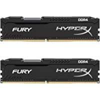 Kingston HX424C15FBK2/32 32GB 2400MHz DDR4 CL15 DIMM (Kit of 2) HyperX FURY, Siyah