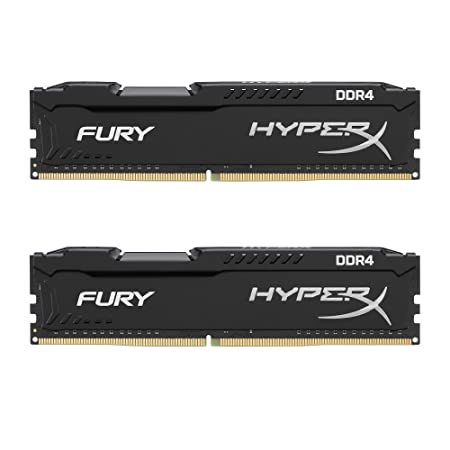 HyperX Fury 2400MHz DDR4 Non-ECC CL15 DIMM 8 GB DDR4 2400 MT/s (PC4-19200) HX424C15FBK2/8 Memory at amazon