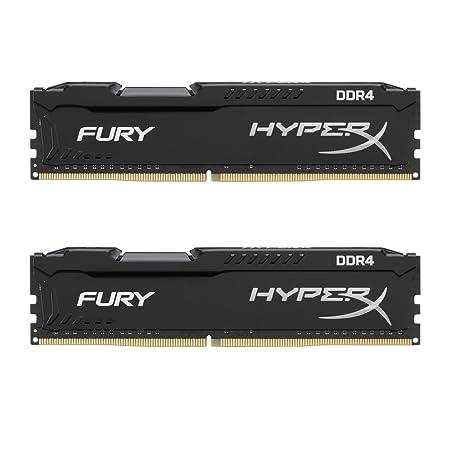 HyperX Fury 2400MHz DDR4 Non-ECC CL15 DIMM 8 GB DDR4 2400 MT/s (PC4-19200) HX424C15FBK2/8 Memory at amazon