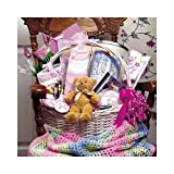 Baby Bountiful Newborn Basket - Large Shower Gift Idea for New Baby Girls